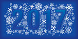 2017 new year banner with snowflakes