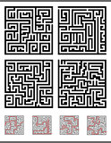 maze game diagrams set