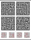 maze game diagrams set
