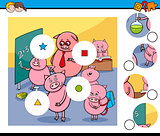 match pieces game with pigs