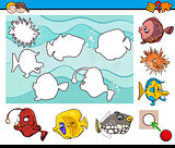 educational activity with fish
