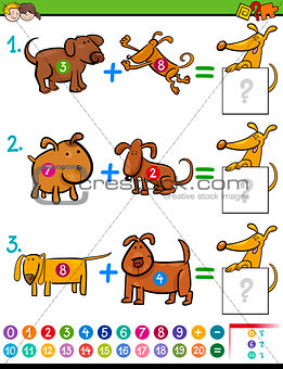 addition educational activity for kids