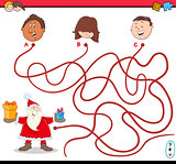 christmas path maze activity