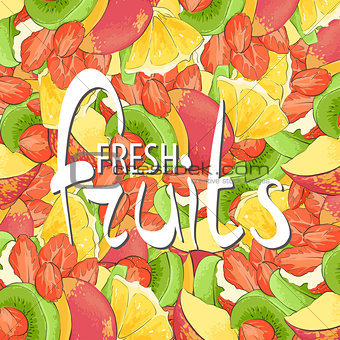 Bright Background from slices of fruit
