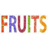 Fresh fruit illustration