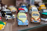 Retro colorful sport toy cars