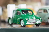 Retro green sport toy car