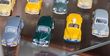 retro colorful toy sport cars