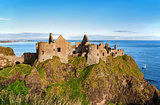 Ruin of Dunluce castle in Northern Ireland