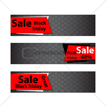 Black friday sale. Web banners