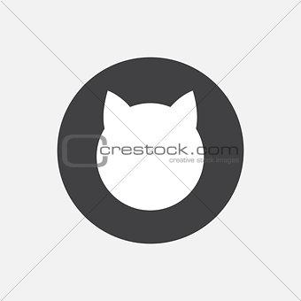 Cat vector icon.