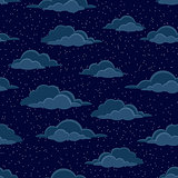 Night Sky with Clouds, Seamless