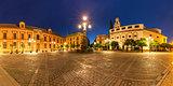 Plaza Virgen de los Reyes at night, Seville, Spain