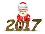 3D Illustration Jolly Santa Claus_2017