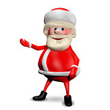 3D Illustration Jolly Santa Claus