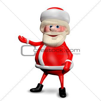 3D Illustration Jolly Santa Claus