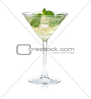 Mojito cocktail isolated