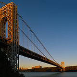 George Washington Bridge at sunrise.
