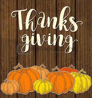 Card for Thanksgiving Day.