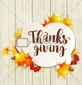 Greeting card for Thanksgiving Day
