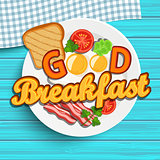 English breakfast, vector.