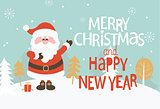 Christmas Greeting Card. Vector.