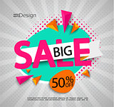 Big sale - bright modern banner.