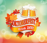 Vintage frame for octoberfest.