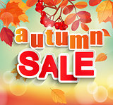 Autumn, Fall sale design.