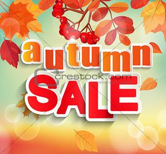 Autumn, Fall sale design.