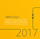 New year 2017 plug and socket.