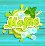 Mojito label splash.
