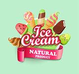 Ice cream emblem.