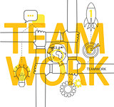 Teamwork concept infographic.