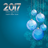 Abstract Beauty Christmas and 2017 New Year Background. Vector I