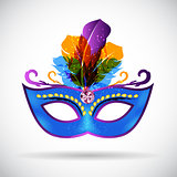 Masquerade Carnival Mask Icon Vector Illustration
