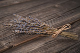 Close-up shot of dried lavender bouquet