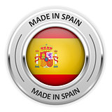 Silver medal Made in Spain with flag