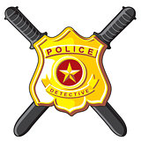 Badge and batons police