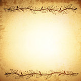 Natural Leaf Border Frame Grunge Background
