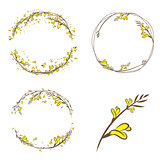 Broom Yellow Flower Decorative Frame Set