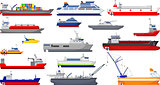 collection of ship cartoon for you design