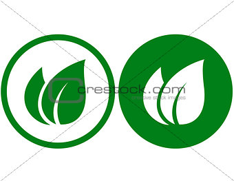 green leaf signs