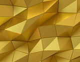 Abstract gold surface. Futuristic background