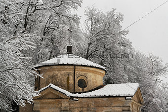 A chapel under the snow