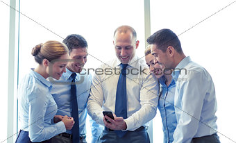 business people with smartphone and smartphones