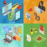 Internet Security Isometric square Banners