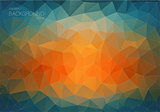 Abstract triangle backgound for web. Blue and orange Art backgound with triangle shapes.
