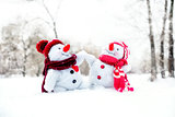 Couple of snowmen