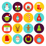 Flat Happy New Year Icons